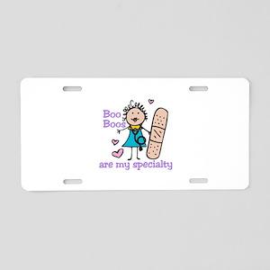 Lady Nurse Aluminum License Plate