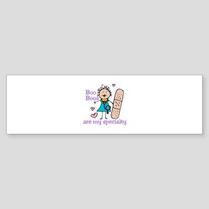 Lady Nurse Bumper Sticker