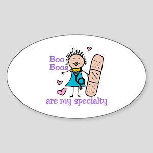 Lady Nurse Sticker