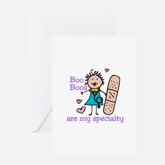 Lady Nurse Greeting Cards