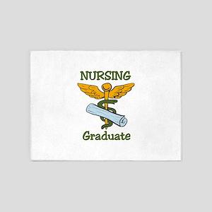 Nursing Graduate 5'x7'Area Rug