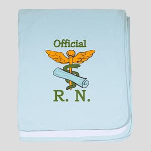 Official R.N. baby blanket