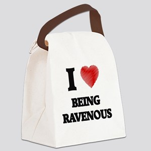 being ravenous Canvas Lunch Bag