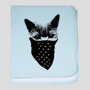 cat thug baby blanket