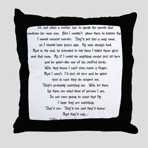 Psycho Speech Throw Pillow