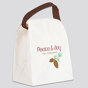Peace This Christmas Canvas Lunch Bag