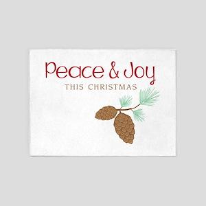 Peace This Christmas 5'x7'Area Rug
