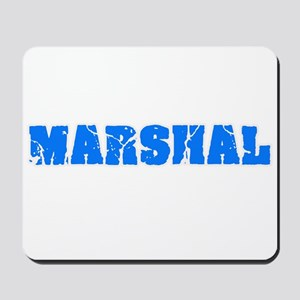 Marshal Blue Bold Design Mousepad