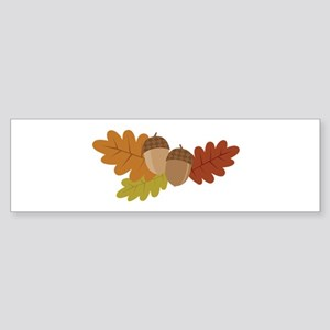 Acorn Leaves Bumper Sticker