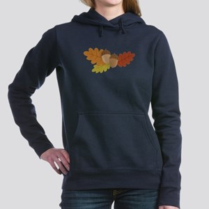 Acorn Leaves Women's Hooded Sweatshirt