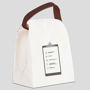 Checklist Pad Canvas Lunch Bag