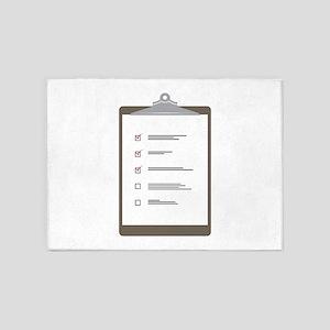 Checklist Pad 5'x7'Area Rug