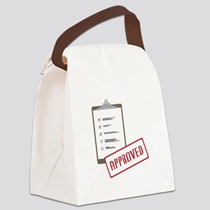 Checklist Approved Canvas Lunch Bag