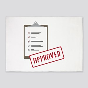 Checklist Approved 5'x7'Area Rug
