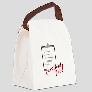 Excellent Job Canvas Lunch Bag