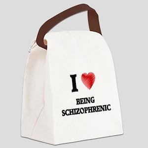 being schizophrenic Canvas Lunch Bag