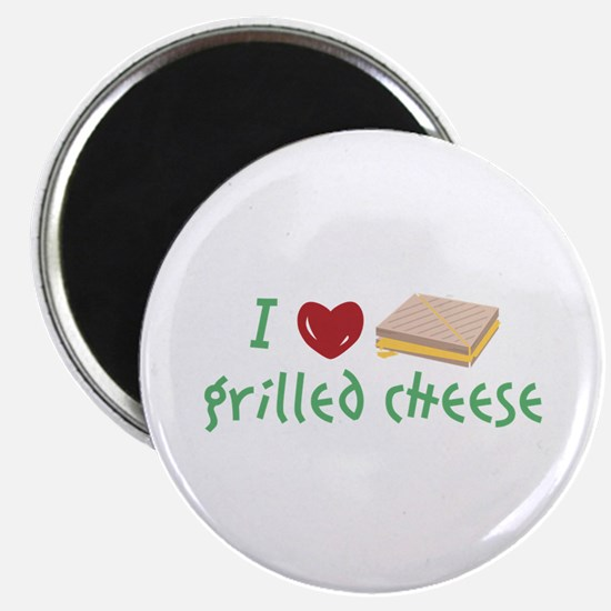 Grilled Cheese Heart Magnets
