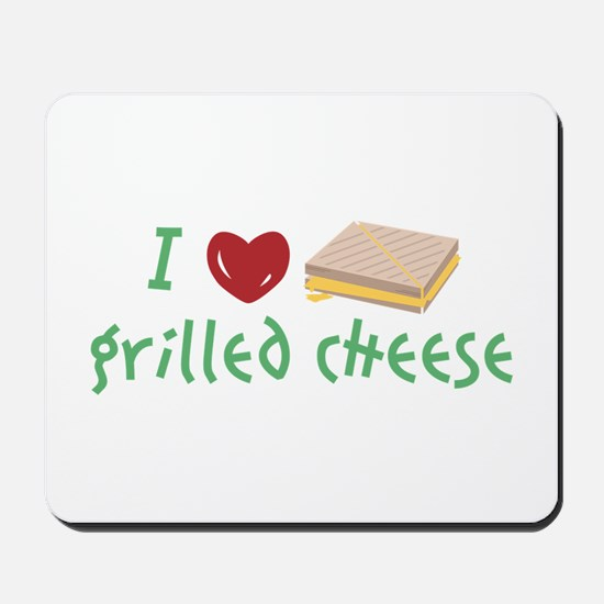 Grilled Cheese Heart Mousepad