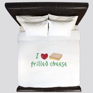 Grilled Cheese Heart King Duvet