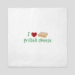 Grilled Cheese Heart Queen Duvet