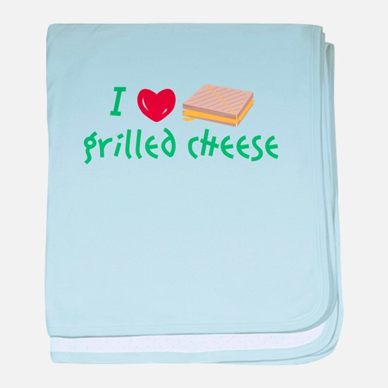 Grilled Cheese Heart baby blanket