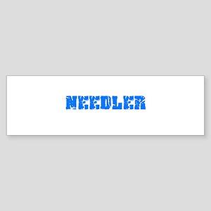 Needler Blue Bold Design Bumper Sticker