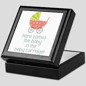 Baby Carriage Keepsake Box