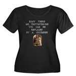 Easy There Mr. Testosterone Women's Plus Size Scoo