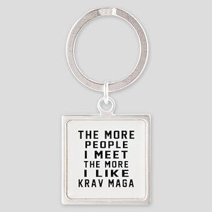 I Like Krav Maga Square Keychain