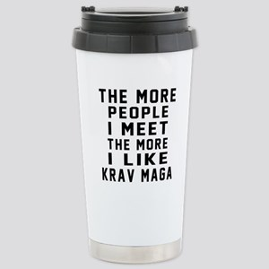 I Like Krav Maga Stainless Steel Travel Mug