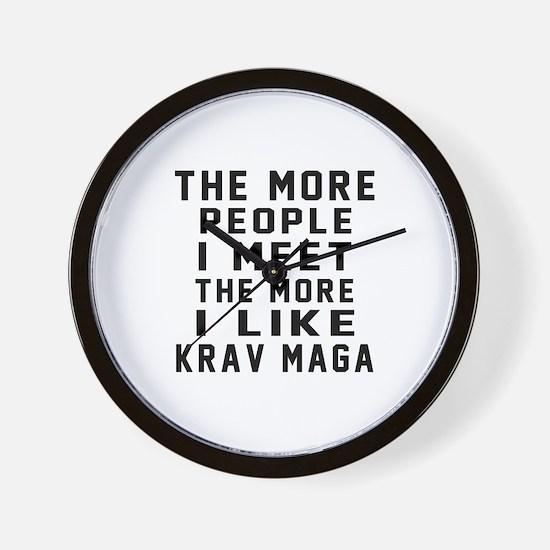 I Like Krav Maga Wall Clock