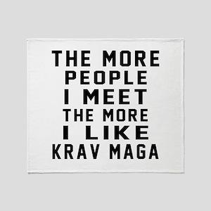 I Like Krav Maga Throw Blanket