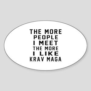 I Like Krav Maga Sticker (Oval)