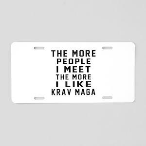 I Like Krav Maga Aluminum License Plate