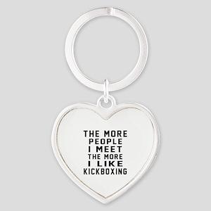 I Like kickboxing Heart Keychain