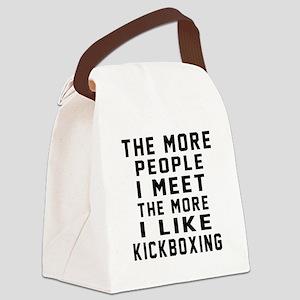 I Like kickboxing Canvas Lunch Bag