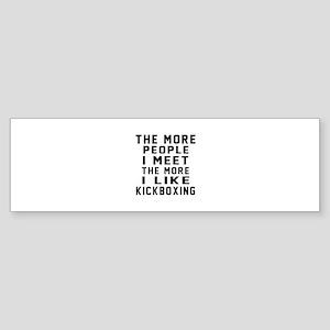 I Like kickboxing Sticker (Bumper)