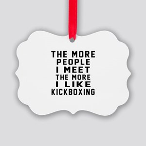I Like kickboxing Picture Ornament