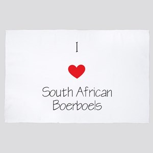 I Love South African Boerboels 4' X 6' Rug