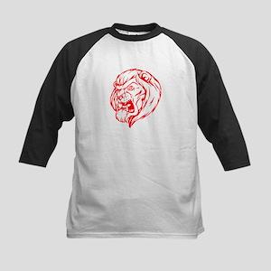 Lion Mascot (Red) Kids Baseball Jersey