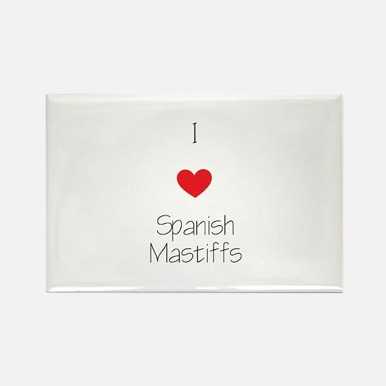 I love Spanish Mastiff Rectangle Magnet (100 pack)