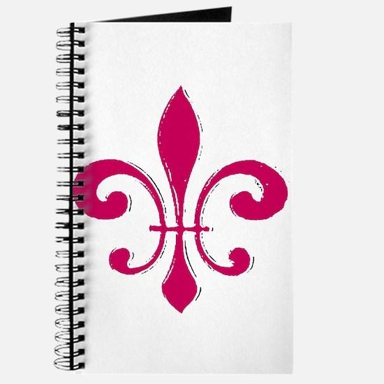 Red Fleur De Lis Journal