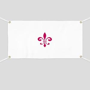 Red Fleur De Lis Banner