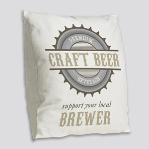 Support Local Burlap Throw Pillow