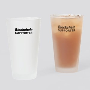 Blockchain Supporter Drinking Glass