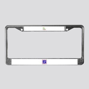 Let's go to Haiti License Plate Frame