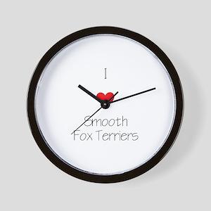 I love Smooth Fox Terriers Wall Clock