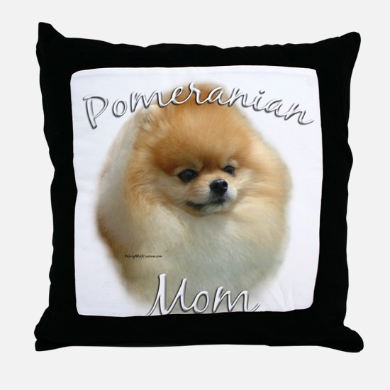 Pomeranian Mom2 Throw Pillow