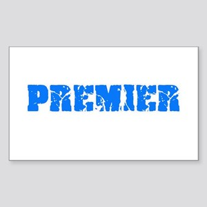 Premier Blue Bold Design Sticker