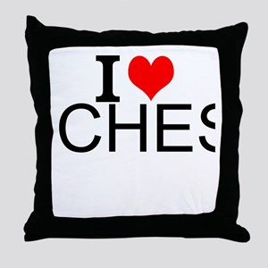 I Love Chess Throw Pillow